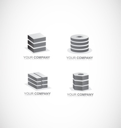 Company logo icon set element black and white vector
