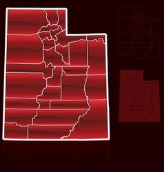 Counties utah vector