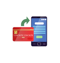 Credit card and mobile phone showing payment vector