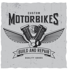 custom motorbikes poster vector image
