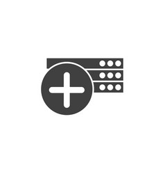 database server icon element data for vector image