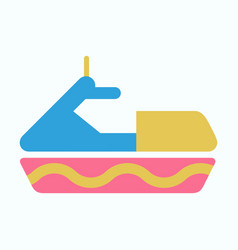 detailed jet boatscooter vector image