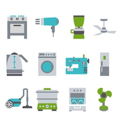 Domestic equipment colored icons vector