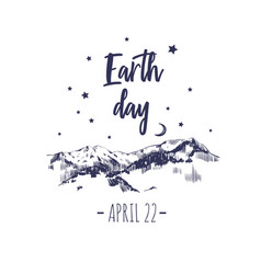 Earth day poster typographic 2 vector