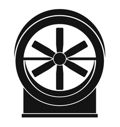 Fan icon simple style vector