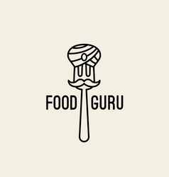 Food guru logo vector