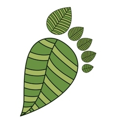 forming leaves a footprint isolated icon design vector image