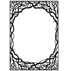 frame of branches vector image