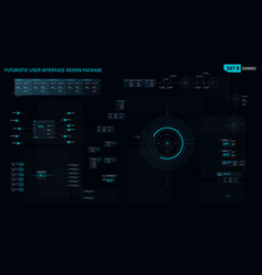 futuristic user interface design element set 08 vector image