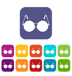 glasses for blind icons set vector image