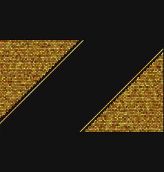golden luxury background template vector image