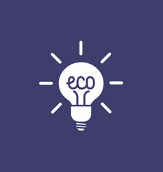 Green ecology bulb vector