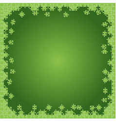 Green transparent puzzles pieces - jigsaw vector