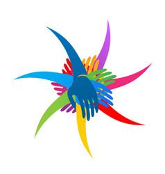Group teamwork love and unity logo vector