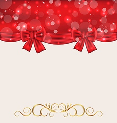 Holiday background with gift bows vector