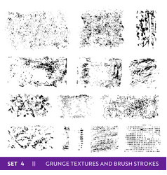 Ink brush strokes grunge collection dirty design vector