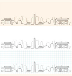 Kansas city hand drawn skyline vector