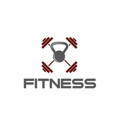 kettlebell and barbell fitness vector image