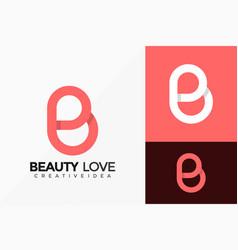 Letter b beauty love logo design abstract vector