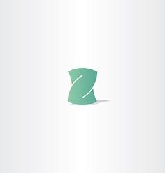 Light green letter z logotype element design vector