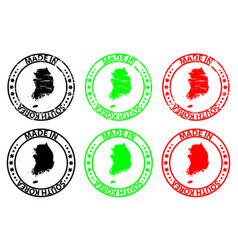 made in south korea rubber stamp vector image