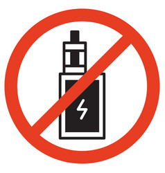 no vape icons no vaping prohibition sign vector image