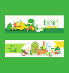 organic healthy food from local farmers fresh eco vector image