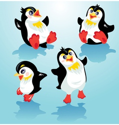 penguins set 380 vector image