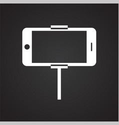 phone shooting icon on white background for vector image