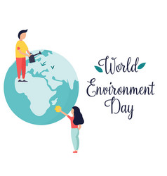poster for world environment day with globe vector image