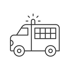 prisoner transport van police related icon vector image
