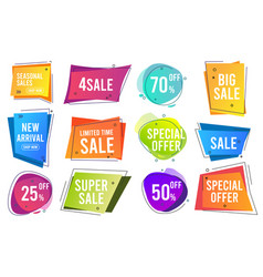 sale banners trendy color modern line banners vector image