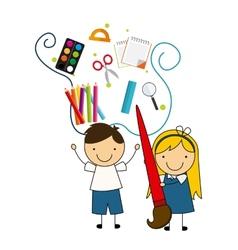 school devices vector image