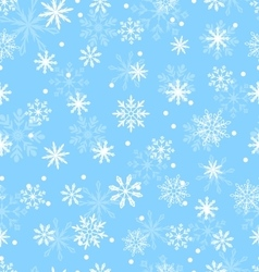 Seamless pattern with variation snowflakes vector