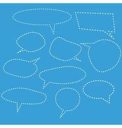 Set of dashed comic bubbles vector image vector image