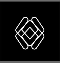 simple ua au va initials company logo vector image