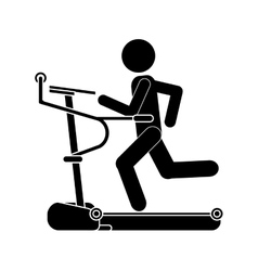 Single treadmill icon vector