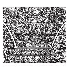 Spandrel moulding vintage engraving vector