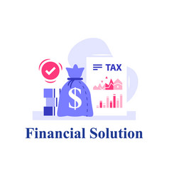 Tax return financial services company finance vector