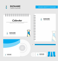 tie logo calendar template cd cover diary and usb vector image