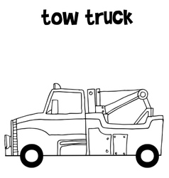 Tow truck collection art vector