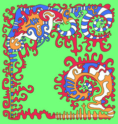 Tribal psychedelic ethnic background isolated vector