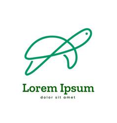 turtle logo icon symbol vector image