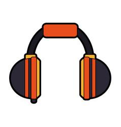 Two tone headphones icon image vector
