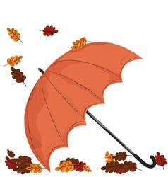 Umbrella in Fall vector
