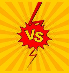 versus vs lettering fight background vector image