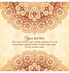 Vintage background in Indian mehndi style vector