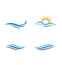 Water wave icon design vector