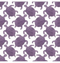 Watercolor seamless pattern with turtles on the vector image