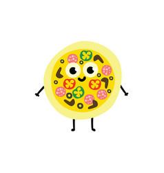 whole pizza cartoon vector image